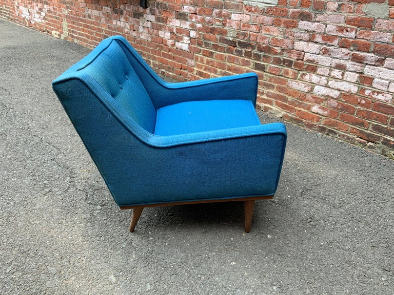 Mid-20th Century Milo Baughman for James Incorporated Upholstered Armchair For Sale