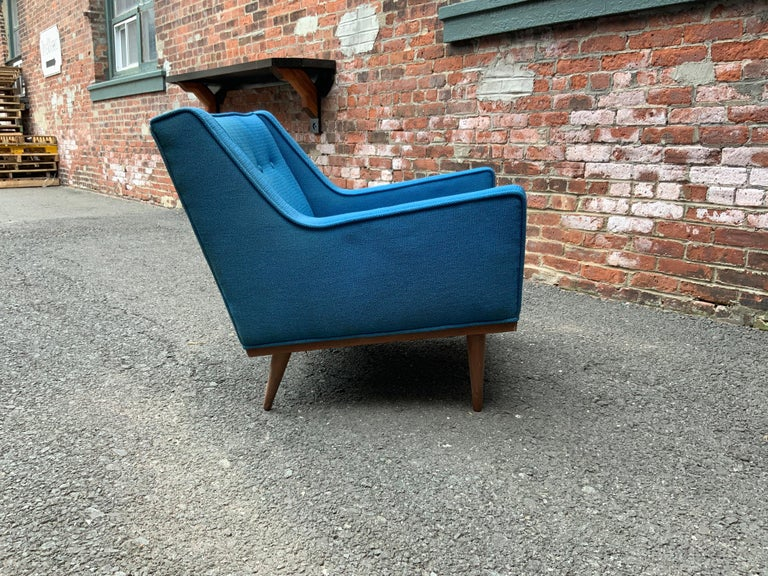 Upholstery Milo Baughman for James Incorporated Upholstered Armchair For Sale