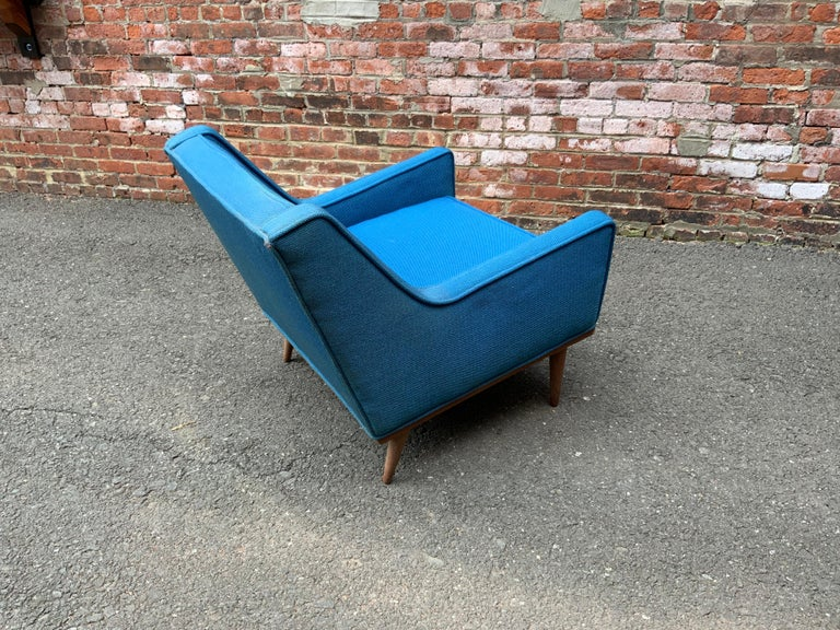 Milo Baughman for James Incorporated Upholstered Armchair For Sale 1