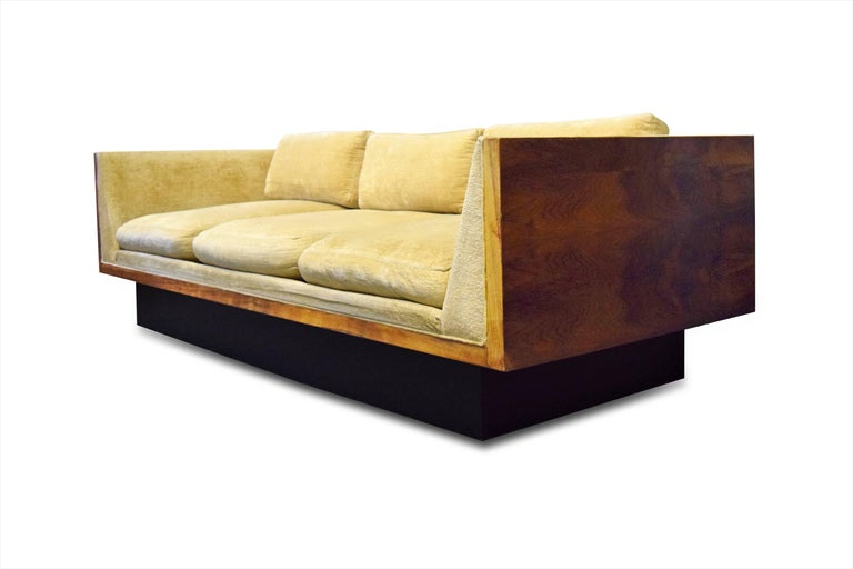 Mid-Century Modern Early Milo Baughman for Thayer Coggin Rosewood Case Sofa For Sale