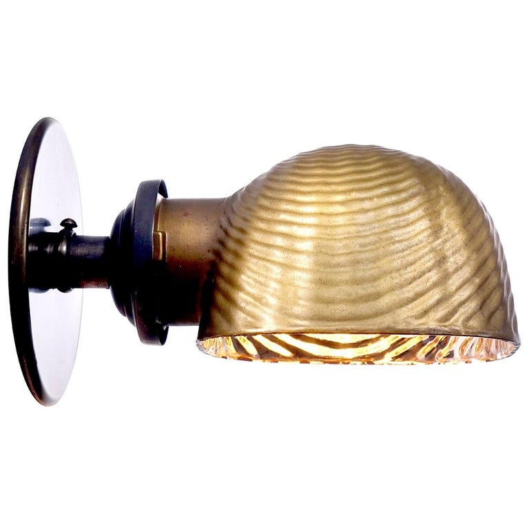 Early Mirrored Mercury Glass Sconce For Sale