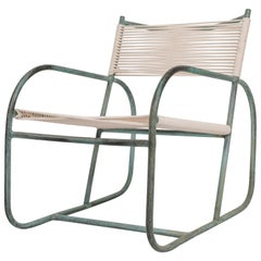 Early Model Bronze Patio Lounge Chair by Walter Lamb
