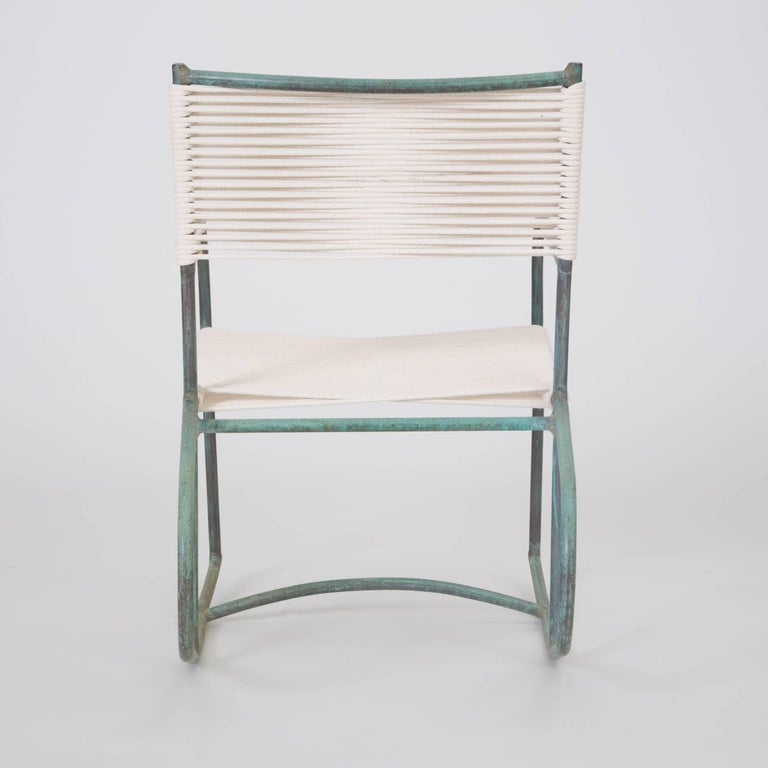 20th Century Early Model Walter Lamb Patio Rocking Chair For Sale