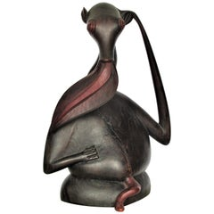 Makonde Modernist Blackwood Sculpture Aardvark Shetani