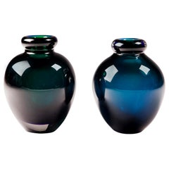 Early Murano Blue and Green Vases