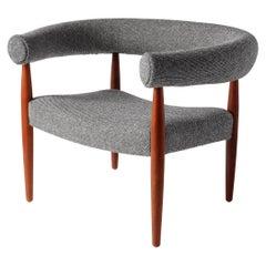 Early Nanna Ditzel Teak Ring Armchair for Kold Savvaerk, Designed 1958, Danish