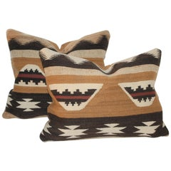 Early Navajo Chinle Indian Weaving Pillows
