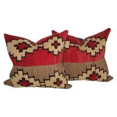 Early Navajo Indian Weaving Pillows, Pair