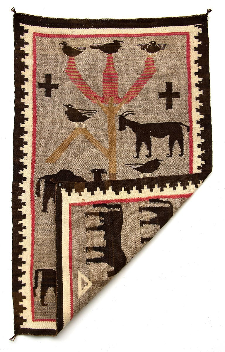 Navajo pictorial textile/weaving. The