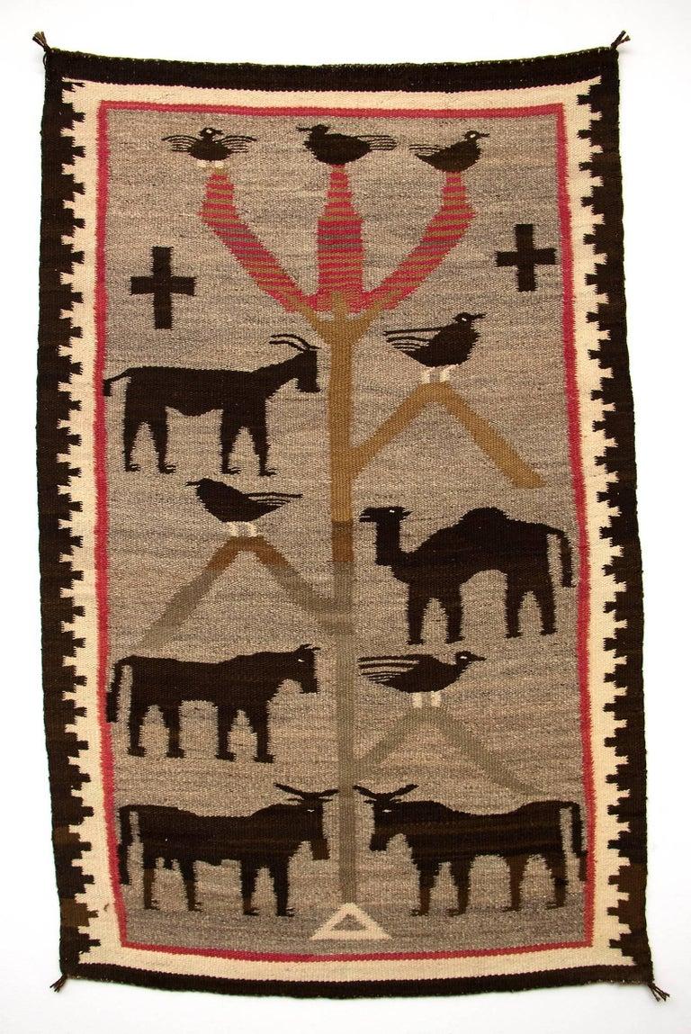 Native American Early Navajo Pictorial Weaving,