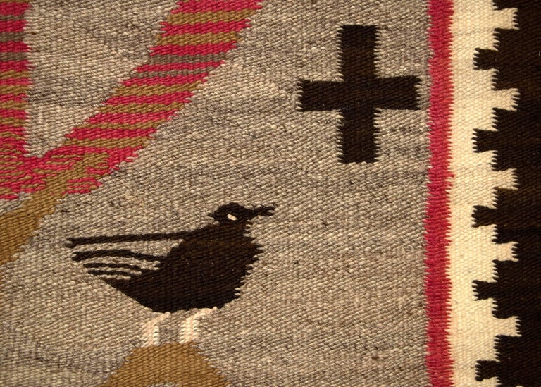 Hand-Woven Early Navajo Pictorial Weaving,
