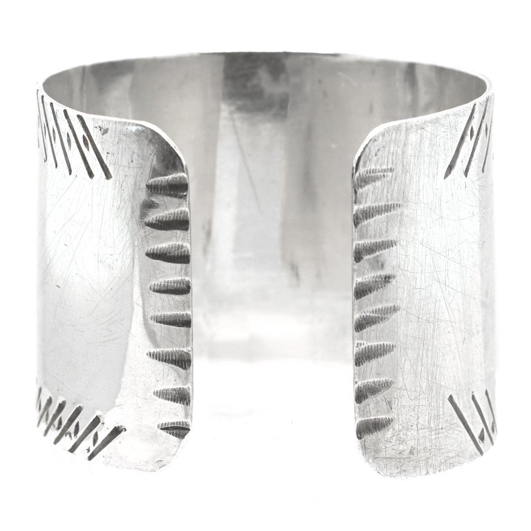 Early Navajo Sterling Cuff For Sale 2