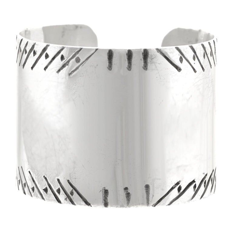 Early Navajo Sterling Cuff For Sale