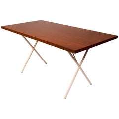 Early Nelson X-Leg Table, Desk by George Nelson for Herman Miller