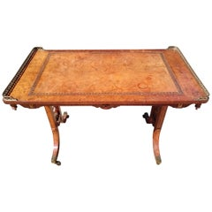 Early 19th Century Regency Antique Library Writing Table