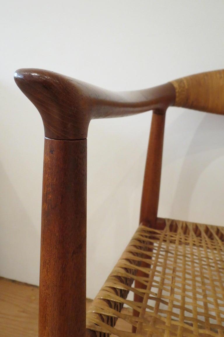 Early Original JH501 Chair by Hans J Wegner for Johannes Hansen in Teak, 1950 For Sale 5