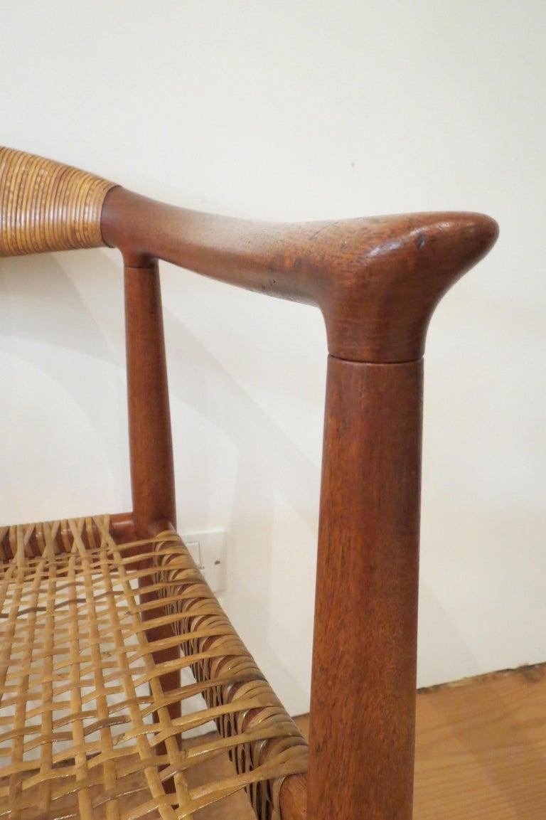 Early Original JH501 Chair by Hans J Wegner for Johannes Hansen in Teak, 1950 For Sale 6