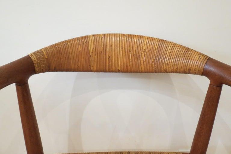 Early Original JH501 Chair by Hans J Wegner for Johannes Hansen in Teak, 1950 For Sale 7