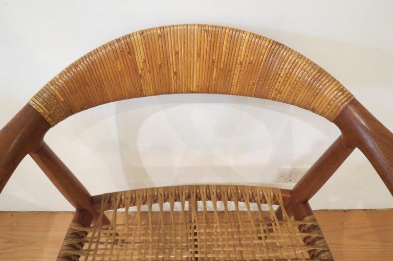 Early Original JH501 Chair by Hans J Wegner for Johannes Hansen in Teak, 1950 For Sale 8