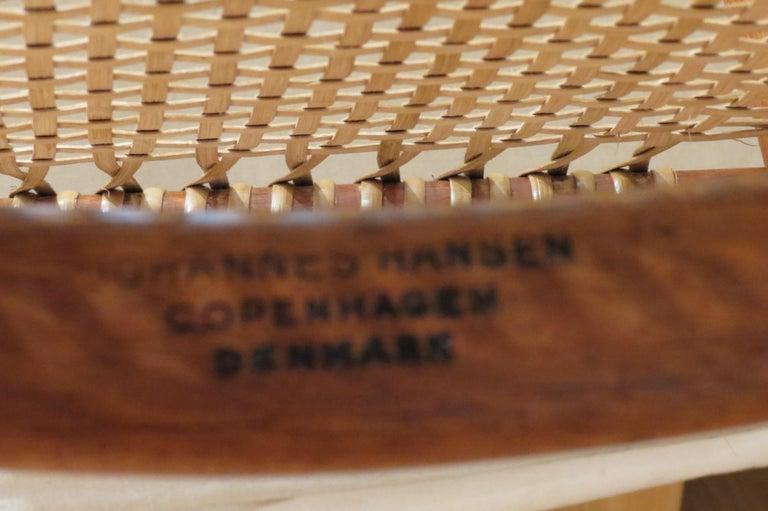 Early Original JH501 Chair by Hans J Wegner for Johannes Hansen in Teak, 1950 For Sale 9
