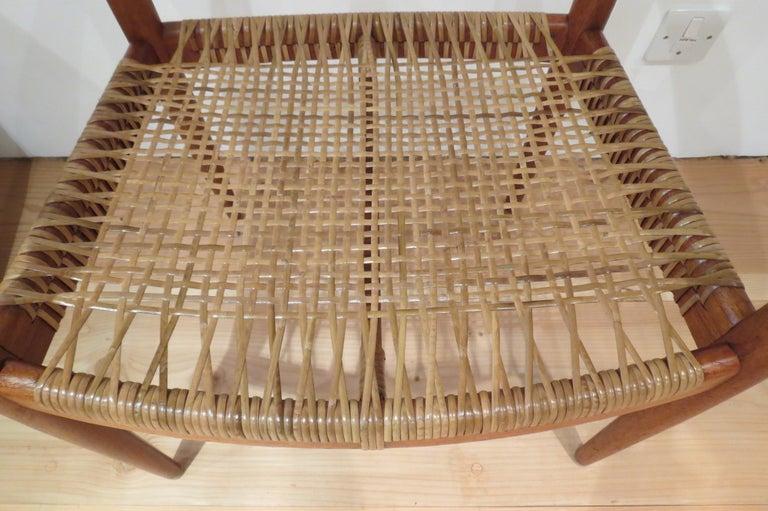 Mid-Century Modern Early Original JH501 Chair by Hans J Wegner for Johannes Hansen in Teak, 1950 For Sale