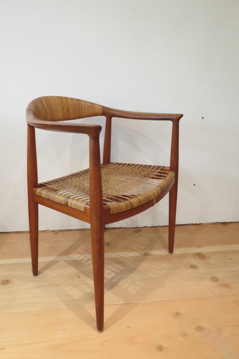 Hand-Crafted Early Original JH501 Chair by Hans J Wegner for Johannes Hansen in Teak, 1950 For Sale