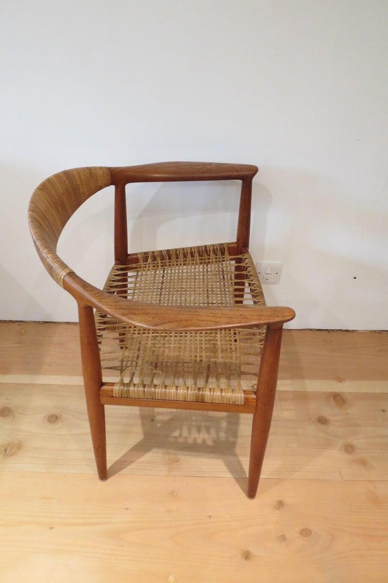 Mid-20th Century Early Original JH501 Chair by Hans J Wegner for Johannes Hansen in Teak, 1950 For Sale