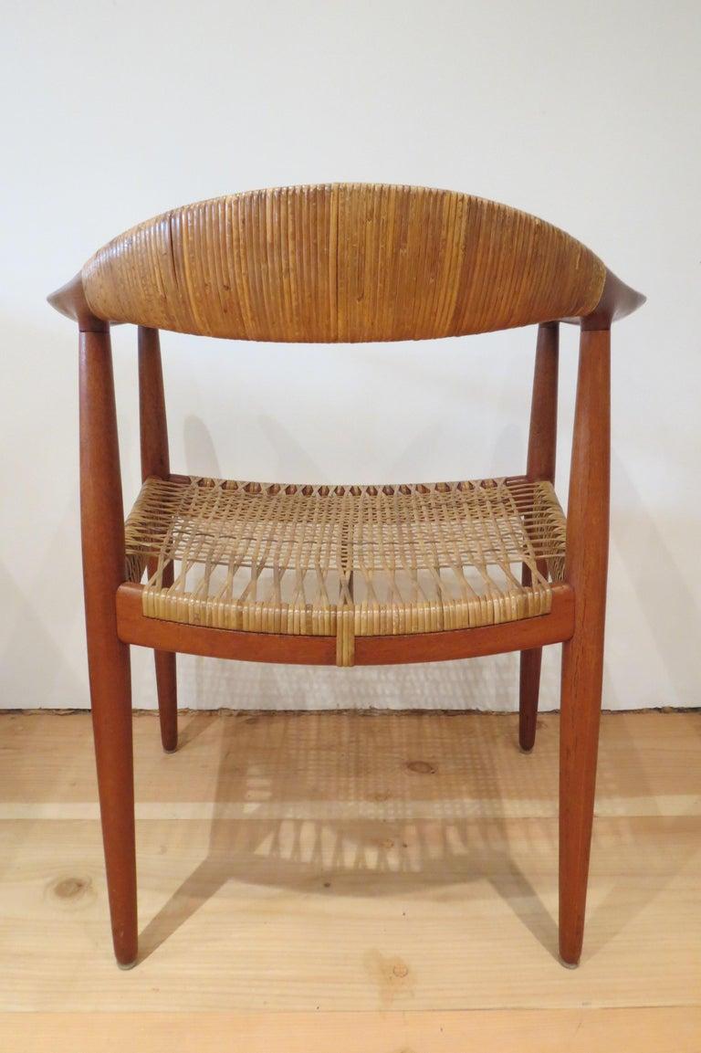 Early Original JH501 Chair by Hans J Wegner for Johannes Hansen in Teak, 1950 For Sale 1