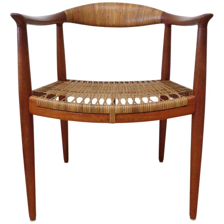Early Original JH501 Chair by Hans J Wegner for Johannes Hansen in Teak, 1950 For Sale