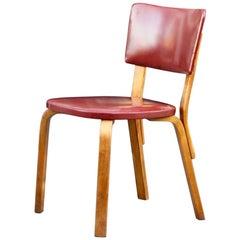Early Original Model No 63 Chair by Alvar Aalto for Artek in Birch & Red, 1935