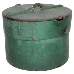 Early Original Painted 19th Century Pantry Box with Lid