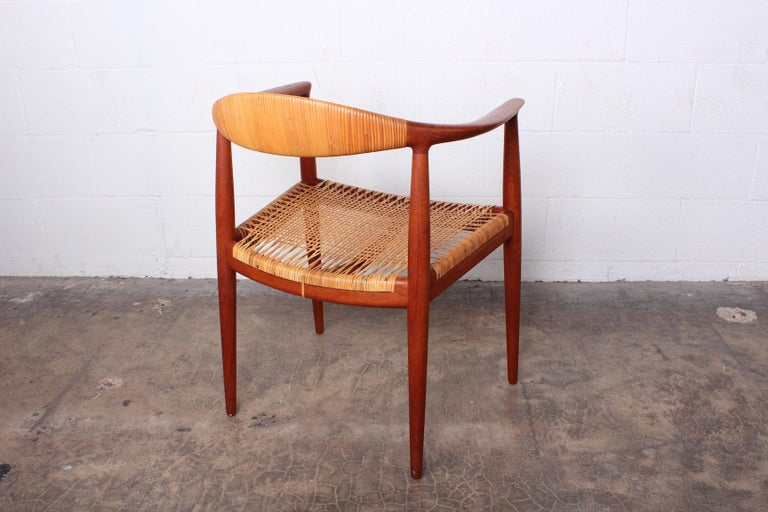 Early Original Round Chair by Hans Wegner For Sale 7