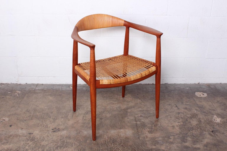 An early all original cane classic chair designed by Hans Wegner for Johannes Hansen.