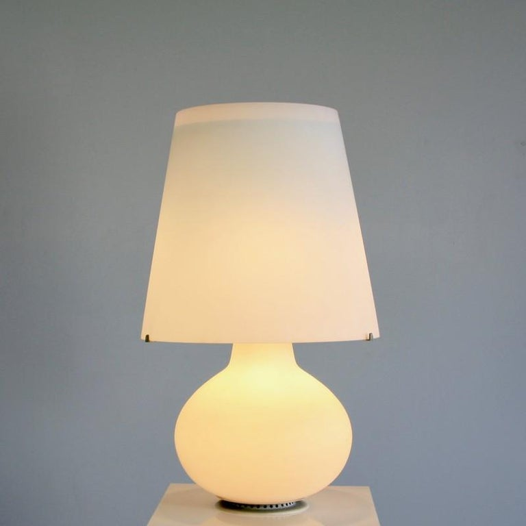 Glass Early Original Table Lamp by Max Ingrand for Fontana Arte, 1954