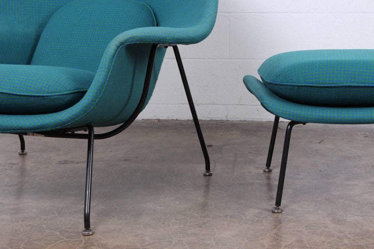 Early Original Womb Chair and Ottoman by Eero Saarinen For Sale 7