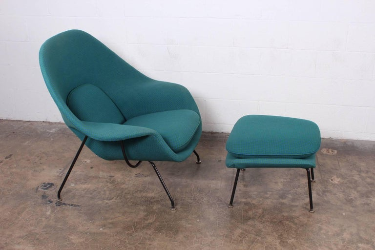 Mid-20th Century Early Original Womb Chair and Ottoman by Eero Saarinen For Sale