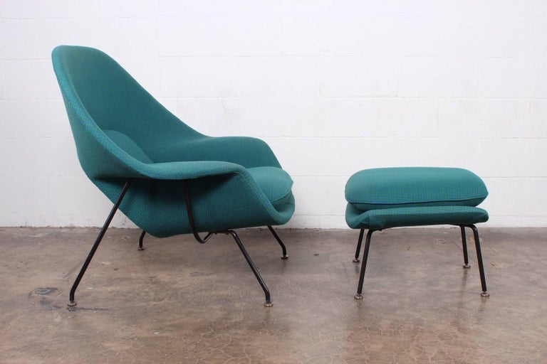 Early Original Womb Chair and Ottoman by Eero Saarinen For Sale 1