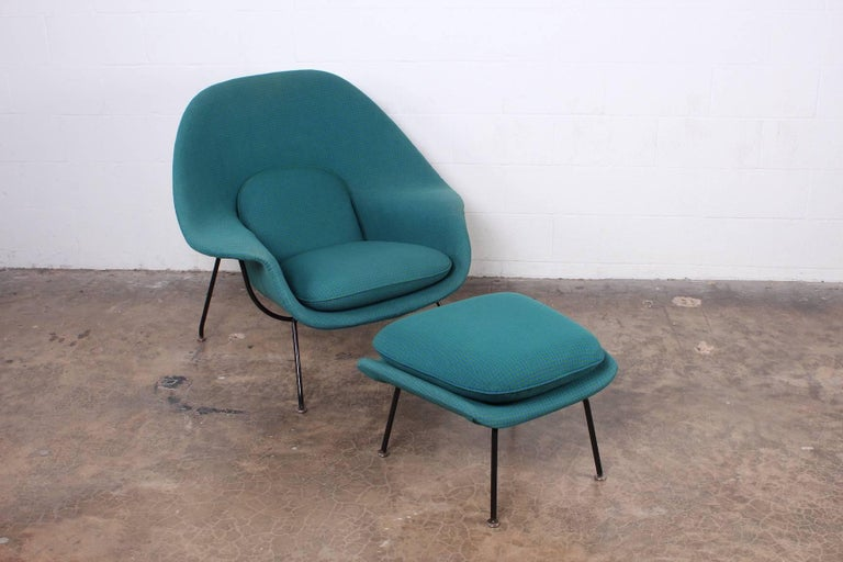 Early Original Womb Chair and Ottoman by Eero Saarinen For Sale 2