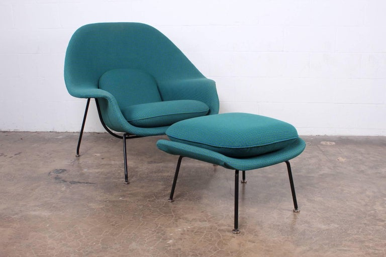 Early Original Womb Chair and Ottoman by Eero Saarinen For Sale 3