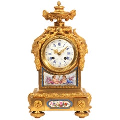 Early Ormolu and Sevres Porcelain Antique French Clock by Lepine Paris