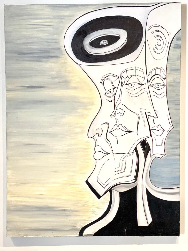 Modern Early Painting by John Brevard, circa 2010 For Sale