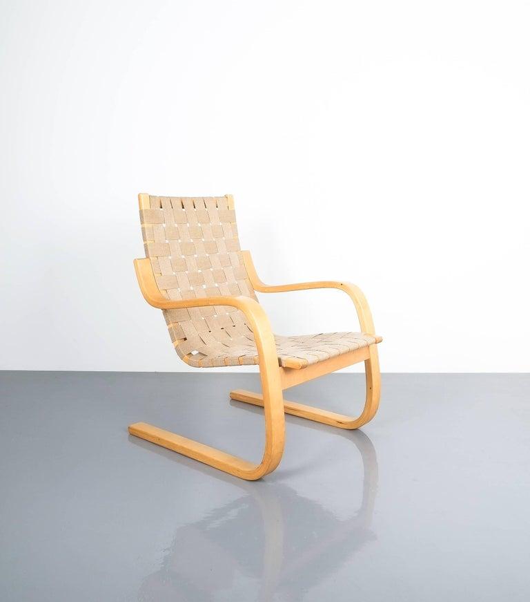 Early Pair of Alvar Aalto Armchairs Chair Model 406 Artek, 1960 For Sale 2