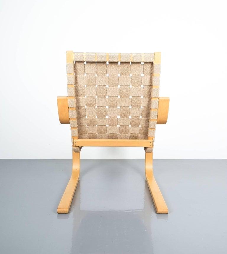 Laminated Early Pair of Alvar Aalto Armchairs Chair Model 406 Artek, 1960 For Sale