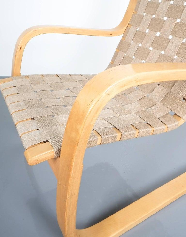 Mid-20th Century Early Pair of Alvar Aalto Armchairs Chair Model 406 Artek, 1960 For Sale