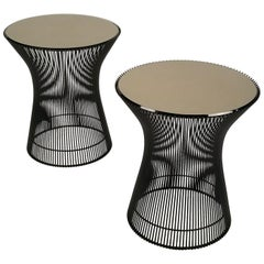 Early Pair of Bronze Side Tables Designed by Warren Platner for Knoll, 1966