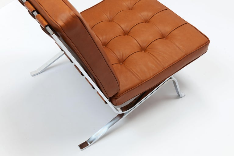 Early Pair of Cognac Leather RH301 Lounge Chairs by Robert Haussmann For Sale 2
