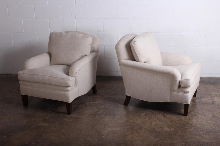Early Pair of Dunbar Lounge Chairs by Edward Wormley In Excellent Condition For Sale In Dallas, TX
