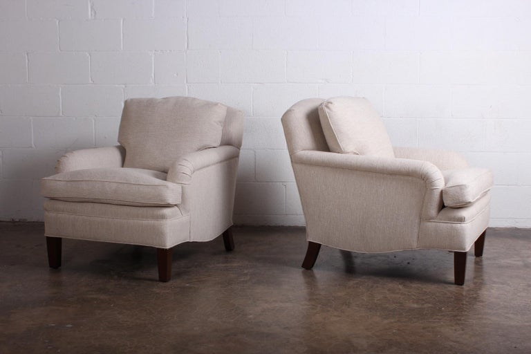 Mid-20th Century Early Pair of Dunbar Lounge Chairs by Edward Wormley For Sale