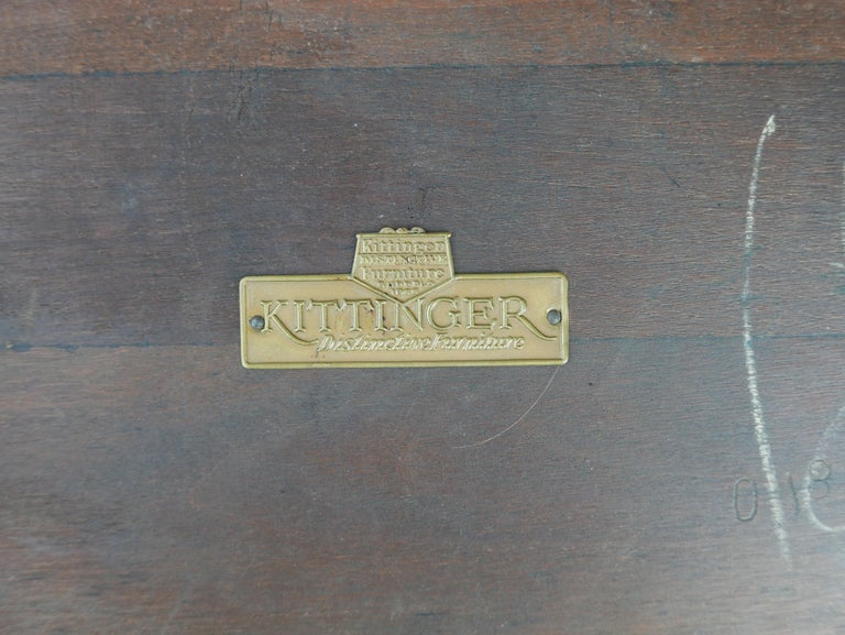 Early Pair of Leather Top Kittinger Spanish Revival Tables For Sale 3