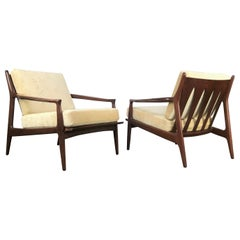 Early Pair of Milo Baughman for Thayer Coggin Archie Low Back Lounge Chairs